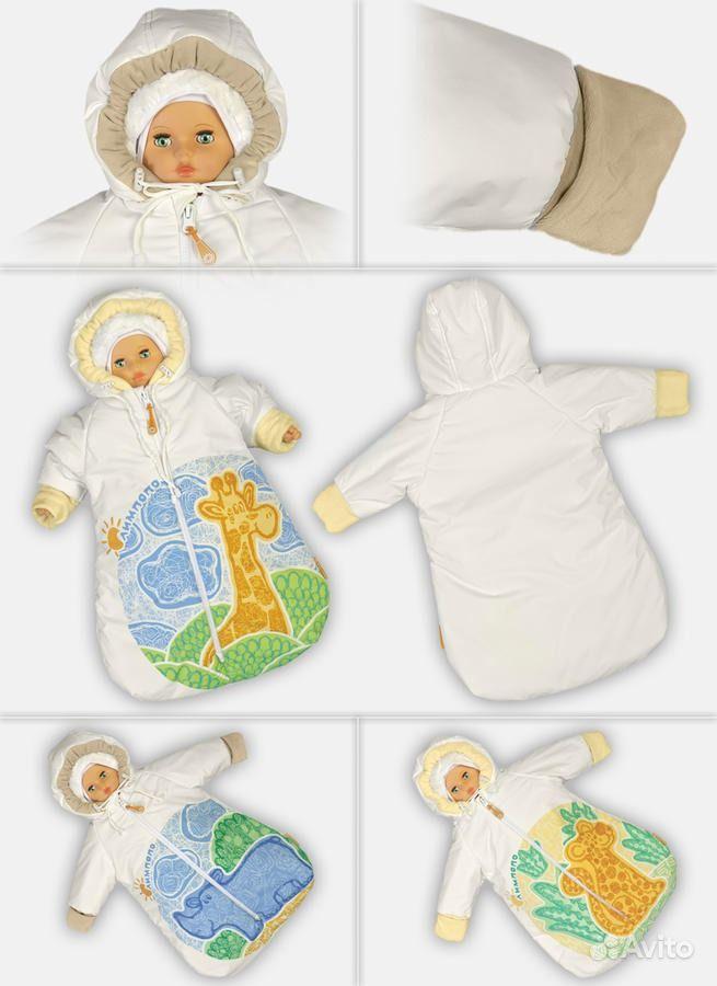 Комбинезон-конверт для новорожденного своими руками 10