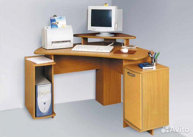 Компьютерный стол цвет бук