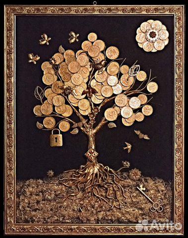 Как сделать панно денежного дерева 427
