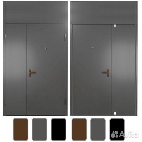 тамбурная дверь от лифта металлическая со стеклом