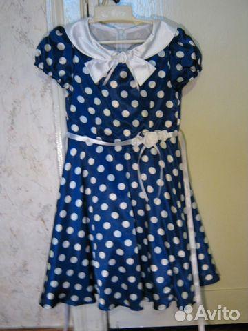 Очаровательное синее платье 89112370029 купить 1