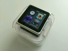 Apple iPod nano 6 (16Gb) Silver + ремешок LunaTik