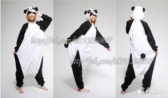 Костюм. Пижама. Кигуруми панда  2f79d3ae2b7ec