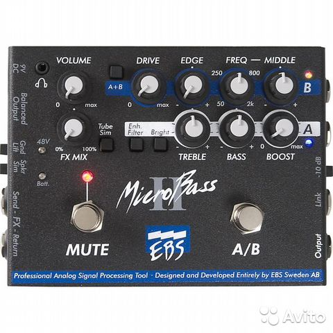 EBS MicroBass Two Channel Pro Bass Pre Amp Преамп купить 1