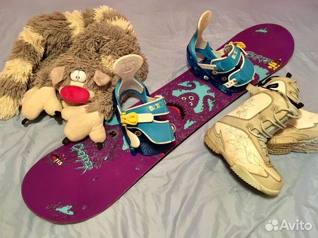 801b900d1ab4 Детский сноуборд комплект Burton 115 см   Festima.Ru - Мониторинг ...