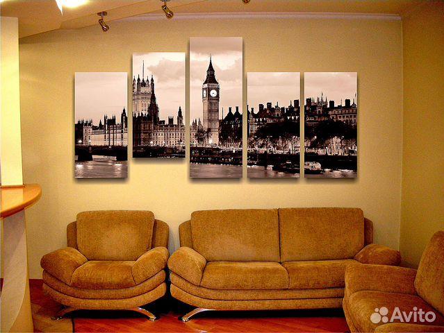 Картины в зал на стену над диваном