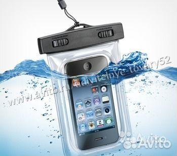 водонепроницаемый чехол для телефонов синий купить в нижегородской