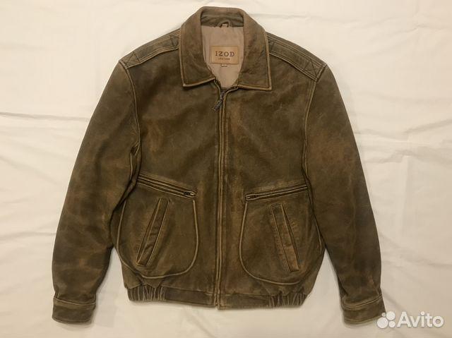 7b11d5b2a815 Izod G-2 Leather Flight Jacket, Кожаная Куртка купить в Москве на ...