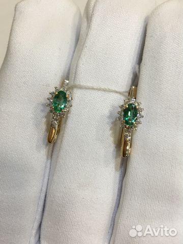9da906e49134 Продаю серьги 585 пр с изумрудами и бриллиантами купить в Самарской ...