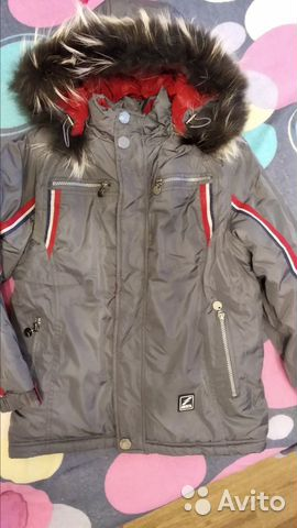 Зимняя куртка, рост 134  89024781634 купить 1