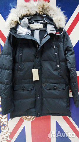 Мужская зимняя куртка пуховик Burberry оригинал купить в Москве на ... ab0512b2653