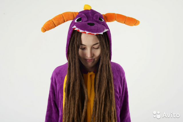 Пижама кигуруми дракон фиолетовый спайро купить в Москве на Avito ... b4018c2135e7b