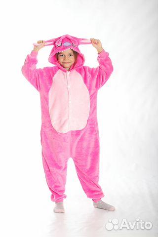 Детская пижама-кигуруми Розовый Стич 1e0508804125e