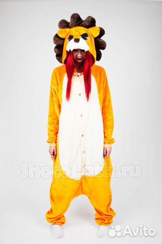 Кигуруми пижама лев рыжий в розницу и оптом купить в Москве на Avito ... c489015da8806