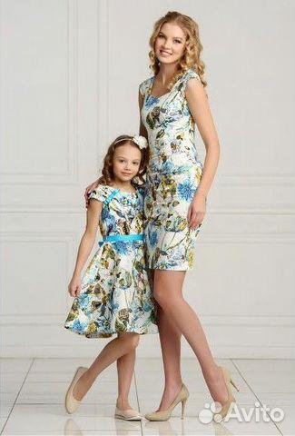 d572e5bb85e8 Комплект платьев мама+дочка | Festima.Ru - Мониторинг объявлений