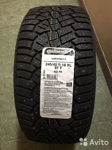 Одна новая шина Continental IceContact2 245/40r18