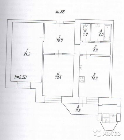 Продается двухкомнатная квартира за 3 800 000 рублей. Саратов, 2-й Товарный проезд.