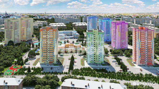 Продается двухкомнатная квартира за 3 800 000 рублей. г Пермь, ул Кронштадтская, д 53.