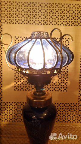 Старинная кобальтовая лампа 89043366666 купить 1