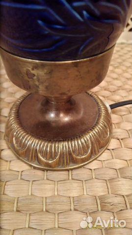 Старинная кобальтовая лампа 89043366666 купить 9