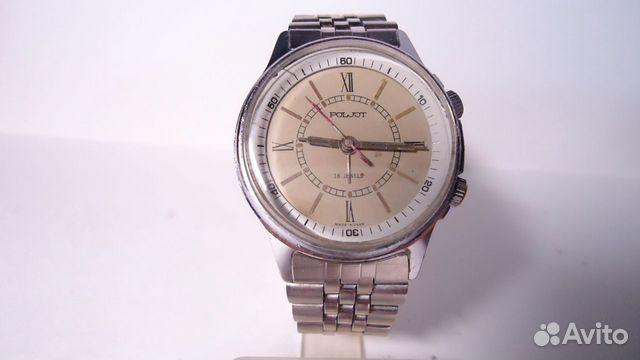 Часы полет с будильником механика браслет СССР купить 7