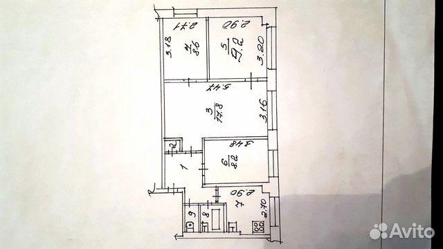 4-к квартира, 59.4 м², 1/5 эт.  89082261382 купить 2
