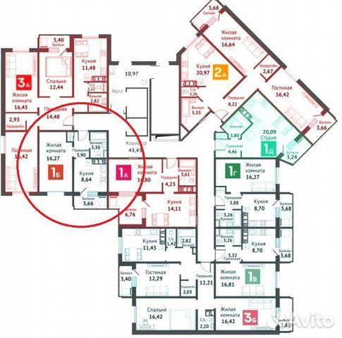 1-к квартира, 35.8 м², 12/16 эт.