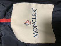 Moncler пуховик темно синий