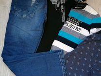 Джинсы+футболки 48 размер