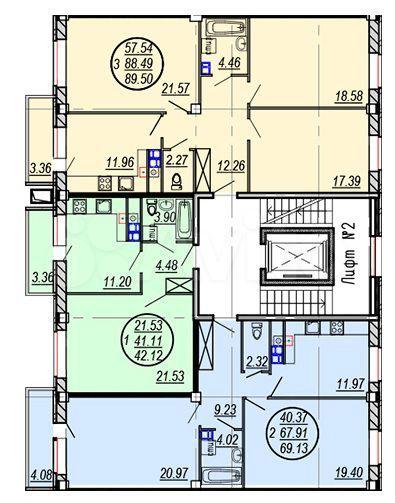 3-к квартира, 89.5 м², 5/9 эт.  89108271572 купить 3