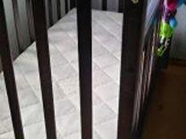 Кроватка,ортопедический матрас и бортики в подарок