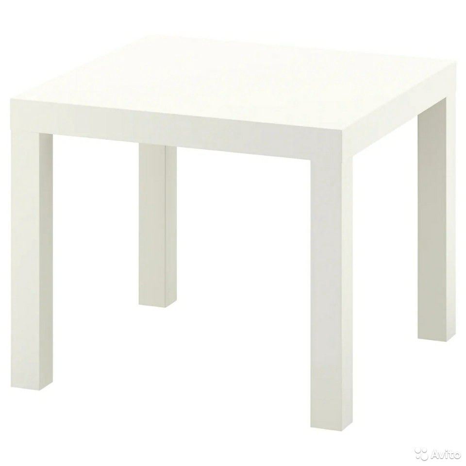 Лаккпридиванный столик, белый55x55 см  89632945800 купить 5