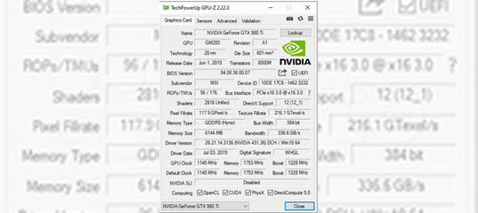 MSI GeForce GTX 980 Ti Gaming 6GB 6гб