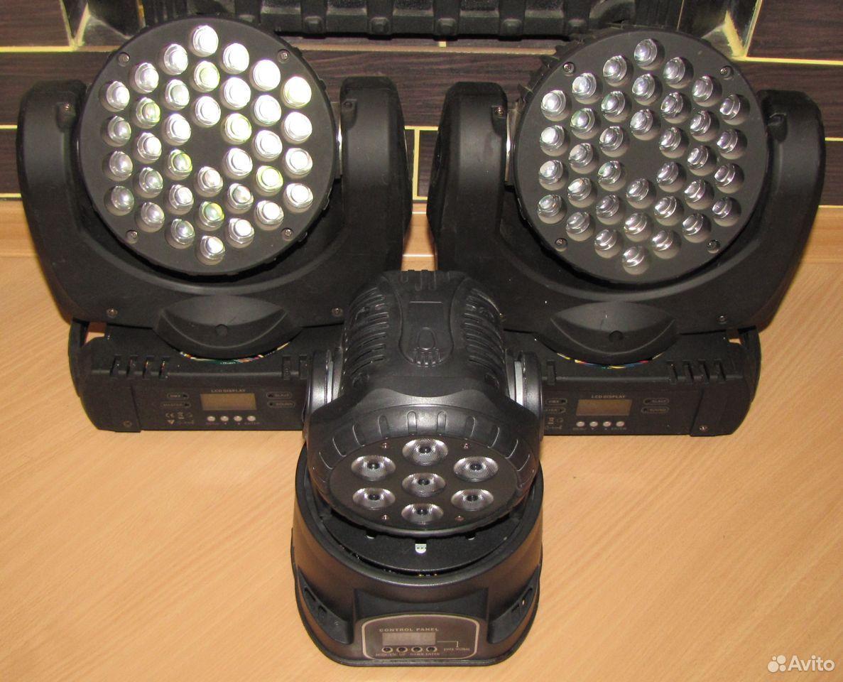 Проф светомузыка 3 вращающиеся головы LED микрофон  89128899109 купить 4