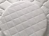 Продам матрас новый для круглой кроватки