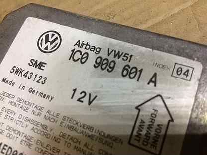 Блок SRS airbag VW Passat (B5+) 1c0909601a