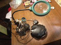Лампа с лупой для пайки