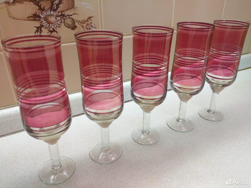 Стеклянные рюмки, бокалы из цветного стекла СССР  89807548898 купить 6