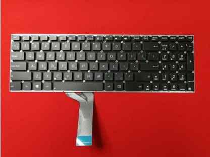 011483 Клавиатура для ноутбука Asus X551 X551CA X551MA черная без рамки (плоский Enter)