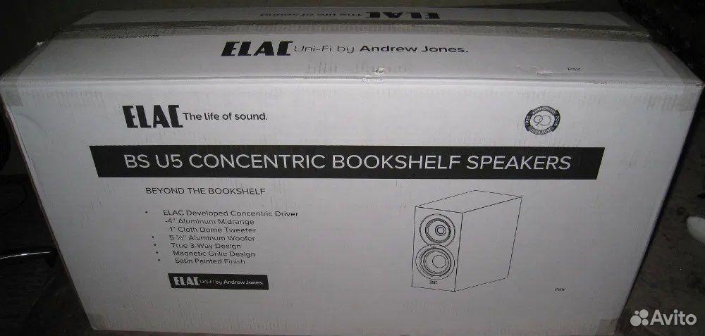 Продам акустику Elac Uni-Fi Bs U5 Satin Black