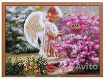 Картина по номерам - Ангелочек и птички